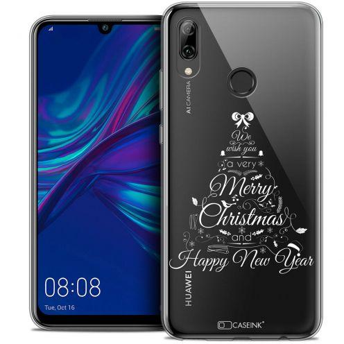 "Carcasa Crystal Gel Extra Fina Huawei P Smart 2019 (6.21"") Noël 2017 Calligraphie"
