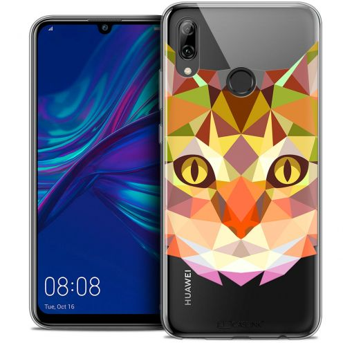 "Carcasa Crystal Gel Extra Fina Huawei P Smart 2019 (6.21"") Polygon Animals Gato"