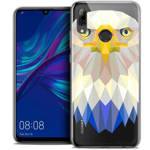 "Carcasa Crystal Gel Extra Fina Huawei P Smart 2019 (6.21"") Polygon Animals Águila"