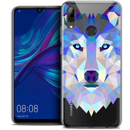 "Carcasa Crystal Gel Extra Fina Huawei P Smart 2019 (6.21"") Polygon Animals Lobo"