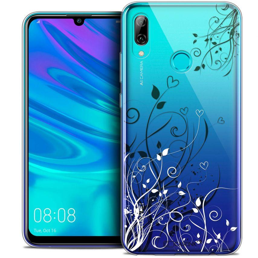 "Carcasa Crystal Gel Extra Fina Huawei P Smart 2019 (6.21"") Love Hearts Flowers"
