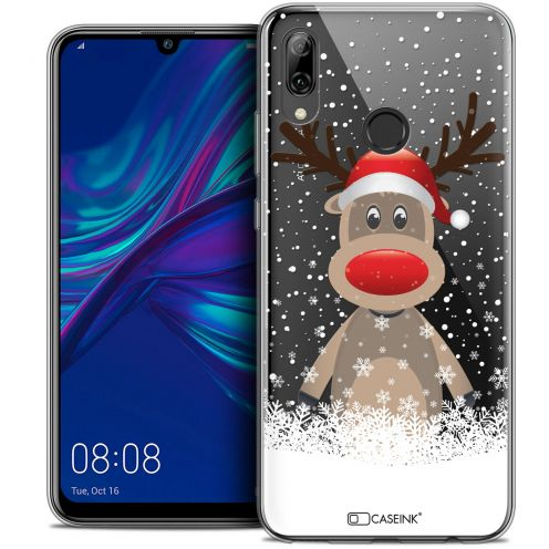 "Carcasa Crystal Gel Extra Fina Huawei P Smart 2019 (6.21"") Noël 2017 Cerf au Bonnet"