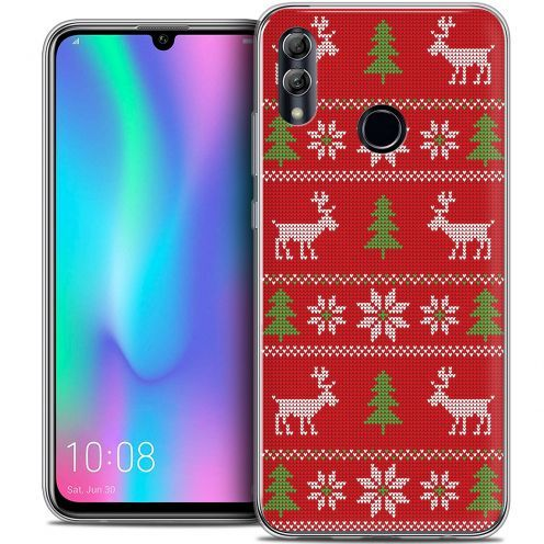 "Carcasa Crystal Gel Extra Fina Huawei Honor 10 LITE (5.8"") Noël 2017 Couture Rouge"