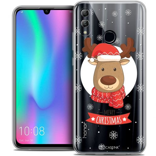 "Carcasa Crystal Gel Extra Fina Huawei Honor 10 LITE (5.8"") Noël 2017 Cerf à Echarpe"