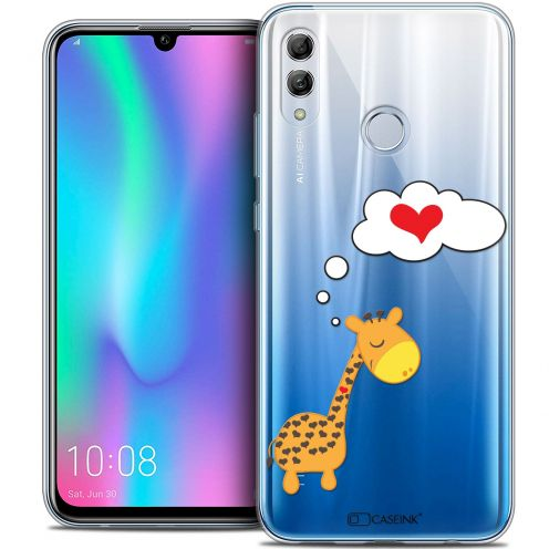 "Carcasa Crystal Gel Extra Fina Huawei Honor 10 LITE (5.8"") Love Girafe Amoureuse"