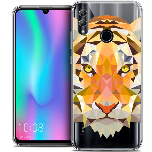 "Carcasa Crystal Gel Extra Fina Huawei Honor 10 LITE (5.8"") Polygon Animals Tigre"