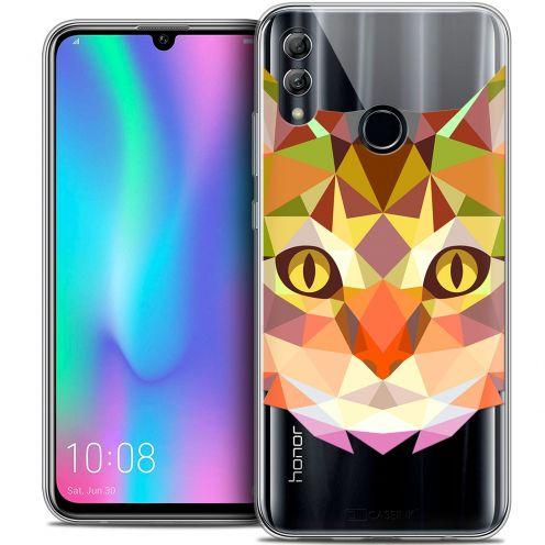 "Carcasa Crystal Gel Extra Fina Huawei Honor 10 LITE (5.8"") Polygon Animals Gato"