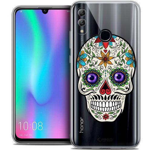 "Carcasa Crystal Gel Extra Fina Huawei Honor 10 LITE (5.8"") Skull Maria's Flower"