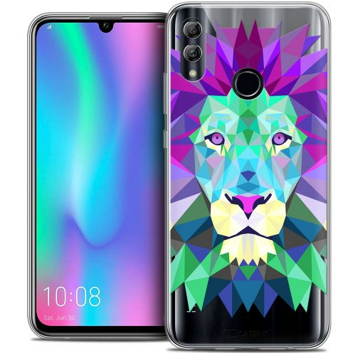 "Carcasa Crystal Gel Extra Fina Huawei Honor 10 LITE (5.8"") Polygon Animals León"