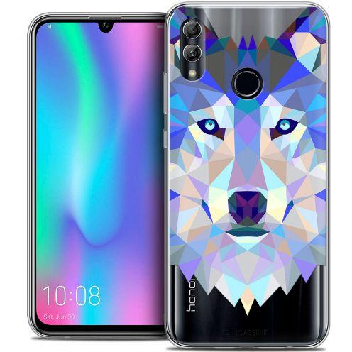 "Carcasa Crystal Gel Extra Fina Huawei Honor 10 LITE (5.8"") Polygon Animals Lobo"