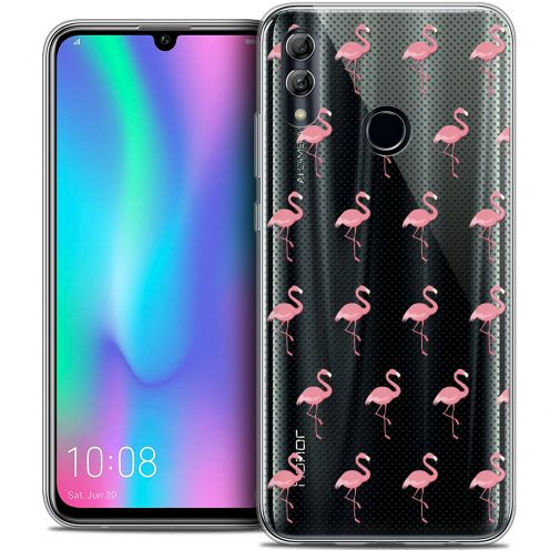 "Carcasa Crystal Gel Extra Fina Huawei Honor 10 LITE (5.8"") Pattern Les flamants Roses Dots"