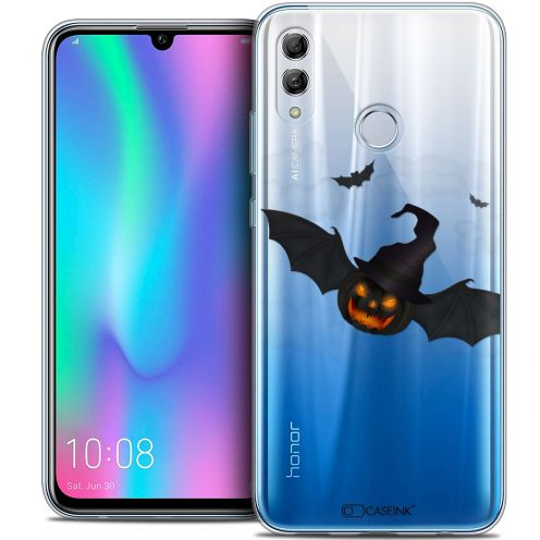 "Carcasa Crystal Gel Extra Fina Huawei Honor 10 LITE (5.8"") Halloween Chauve Citrouille"