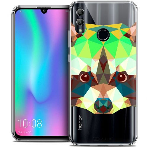 "Carcasa Crystal Gel Extra Fina Huawei Honor 10 LITE (5.8"") Polygon Animals Raton Laveur"