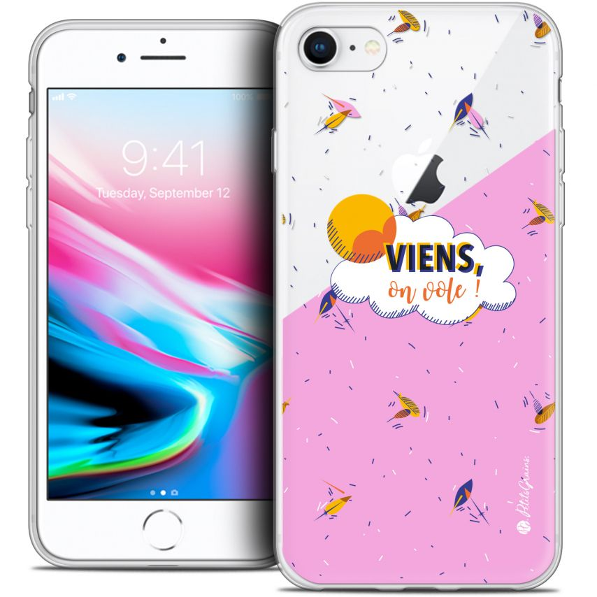 "Carcasa Crystal Gel Extra Fina Apple iPhone 7 (4.7"") Petits Grains® VIENS, On Vole !"