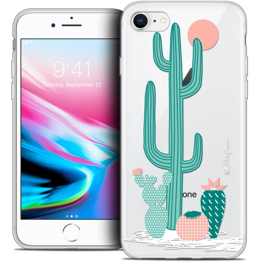 "Carcasa Crystal Gel Extra Fina Apple iPhone 7 (4.7"") Petits Grains® A l'Ombre des Cactus"