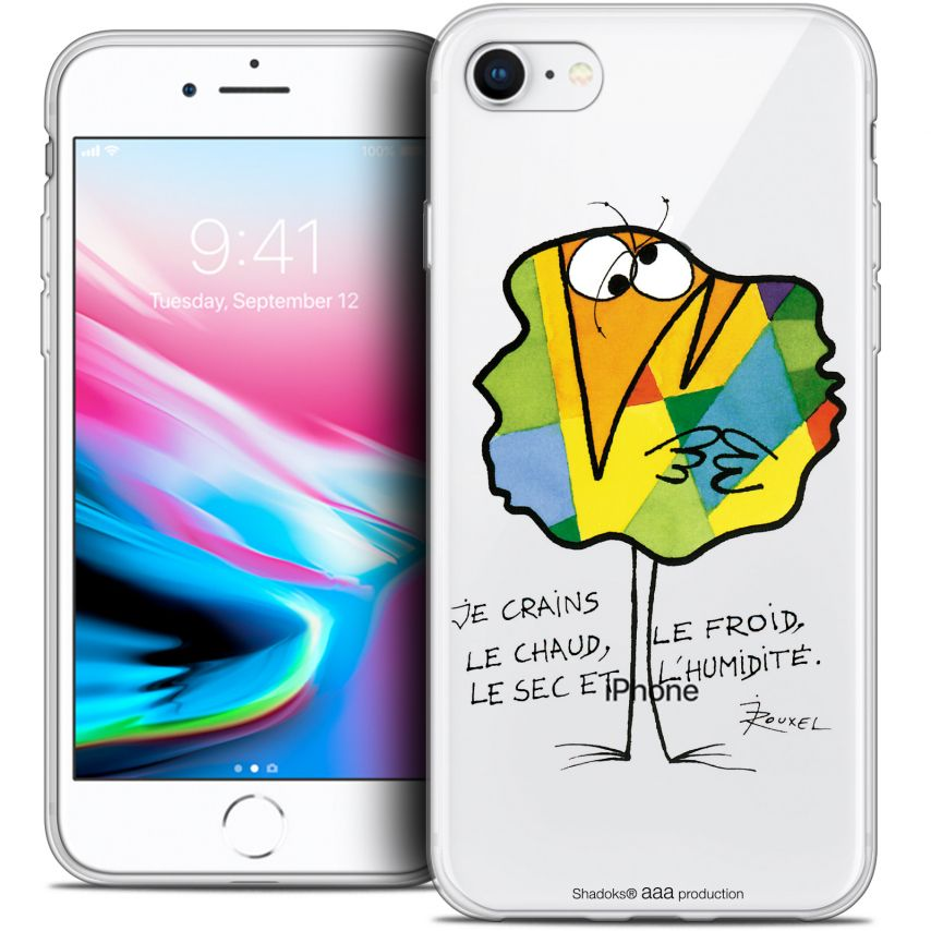 "Carcasa Crystal Gel Extra Fina Apple iPhone 7 (4.7"") Les Shadoks® Chaud ou Froid"
