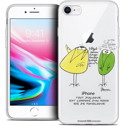 "Carcasa Crystal Gel Extra Fina Apple iPhone 7 (4.7"") Les Shadoks® Le Dialogue"