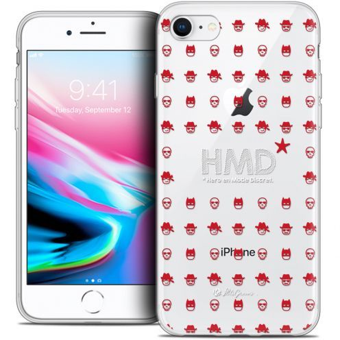 "Carcasa Crystal Gel Extra Fina Apple iPhone 8 (4.7"") Petits Grains® HMD* Hero en Mode Discret"