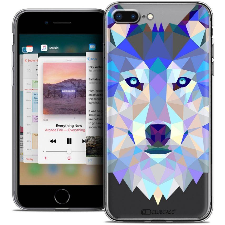 "Carcasa Crystal Gel Extra Fina Apple iPhone 7 Plus (5.5"") Polygon Animals Lobo"