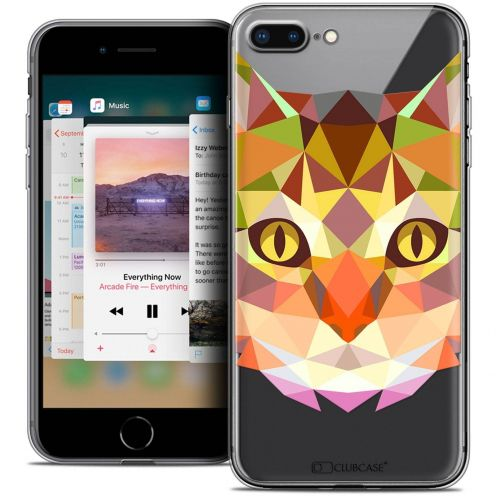 "Carcasa Crystal Gel Extra Fina Apple iPhone 7 Plus (5.5"") Polygon Animals Gato"
