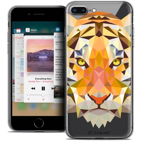 "Carcasa Crystal Gel Extra Fina Apple iPhone 7 Plus (5.5"") Polygon Animals Tigre"