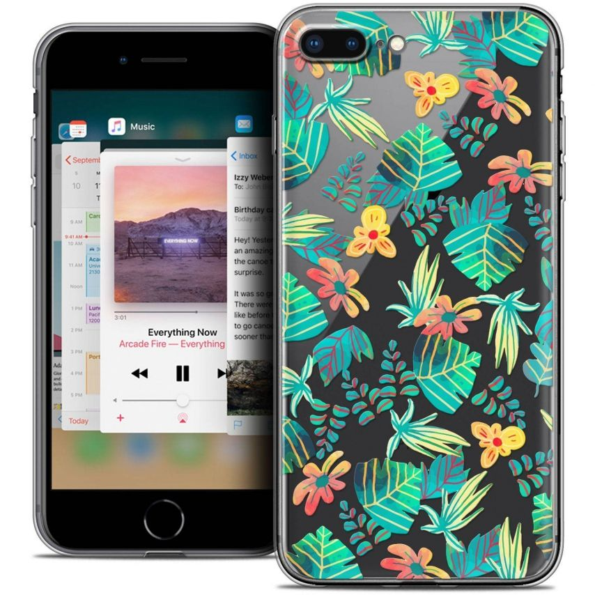 "Carcasa Crystal Gel Extra Fina Apple iPhone 7 Plus (5.5"") Spring Tropical"
