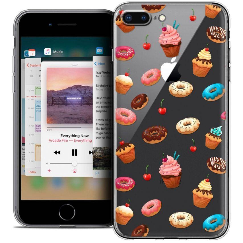 "Carcasa Crystal Gel Extra Fina Apple iPhone 7 Plus (5.5"") Foodie Donuts"