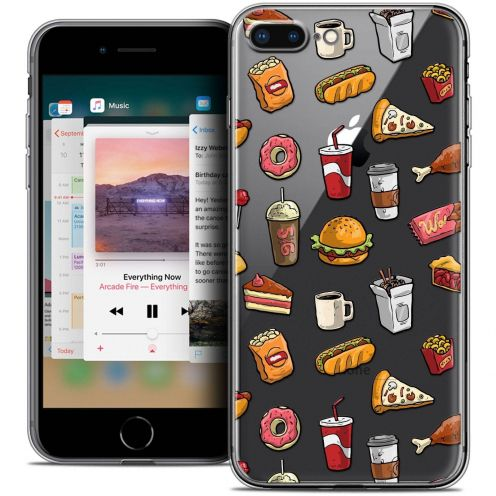"Carcasa Crystal Gel Extra Fina Apple iPhone 7 Plus (5.5"") Foodie Fast Food"