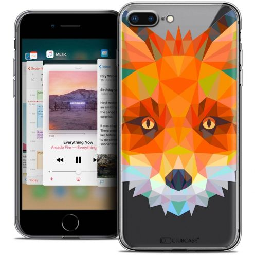 "Carcasa Crystal Gel Extra Fina Apple iPhone 7 Plus (5.5"") Polygon Animals Zorro"