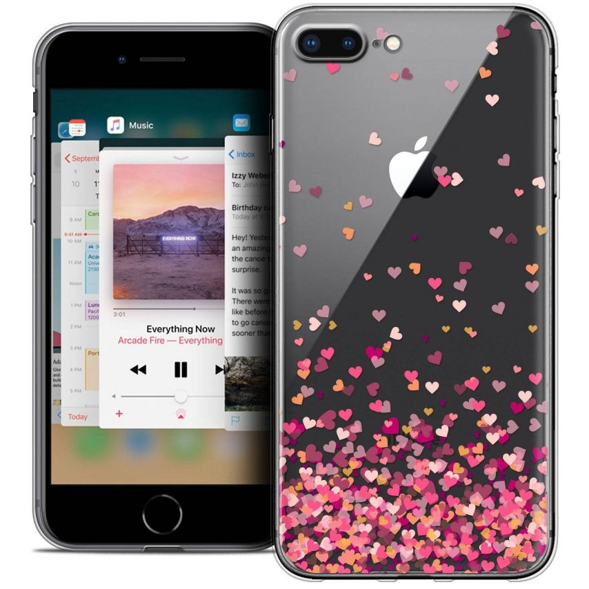 "Carcasa Crystal Gel Extra Fina Apple iPhone 7 Plus (5.5"") Sweetie Heart Flakes"