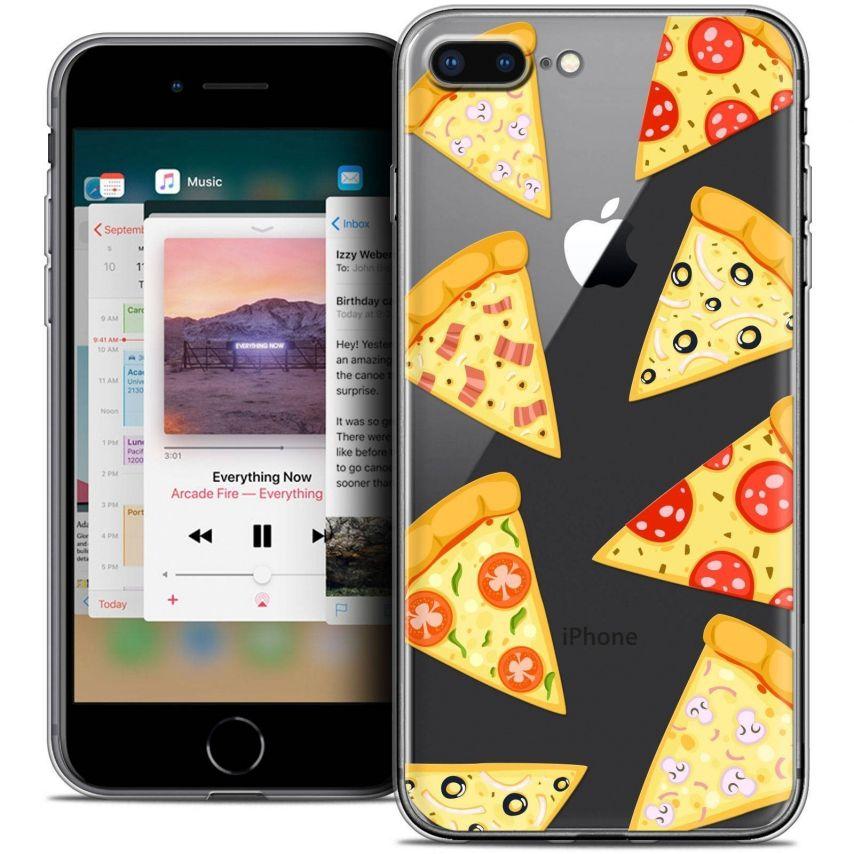 "Carcasa Crystal Gel Extra Fina Apple iPhone 7 Plus (5.5"") Foodie Pizza"