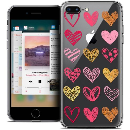 "Carcasa Crystal Gel Extra Fina Apple iPhone 7 Plus (5.5"") Sweetie Doodling Hearts"