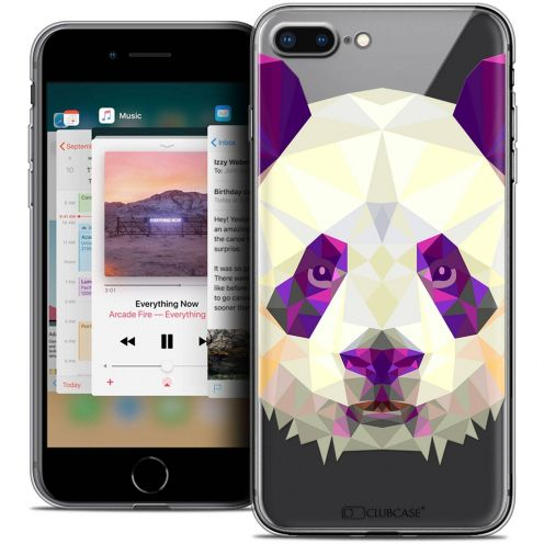 "Carcasa Crystal Gel Extra Fina Apple iPhone 7 Plus (5.5"") Polygon Animals Panda"