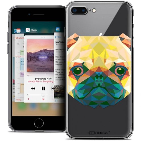 "Carcasa Crystal Gel Extra Fina Apple iPhone 7 Plus (5.5"") Polygon Animals Perro"