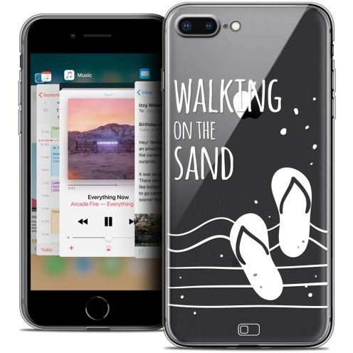"Carcasa Crystal Gel Extra Fina Apple iPhone 7 Plus (5.5"") Summer Walking on the Sand"