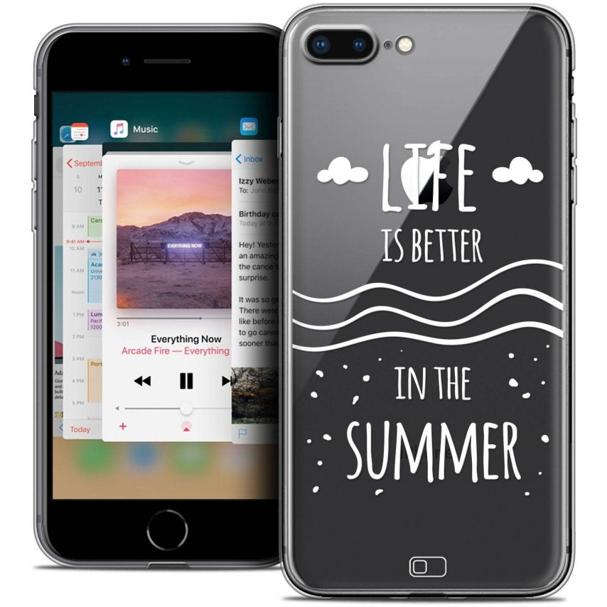 "Carcasa Crystal Gel Extra Fina Apple iPhone 7 Plus (5.5"") Summer Life's Better"