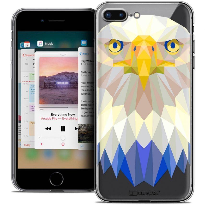 "Carcasa Crystal Gel Extra Fina Apple iPhone 7 Plus (5.5"") Polygon Animals Águila"