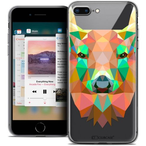 "Carcasa Crystal Gel Extra Fina Apple iPhone 7 Plus (5.5"") Polygon Animals Ciervo"