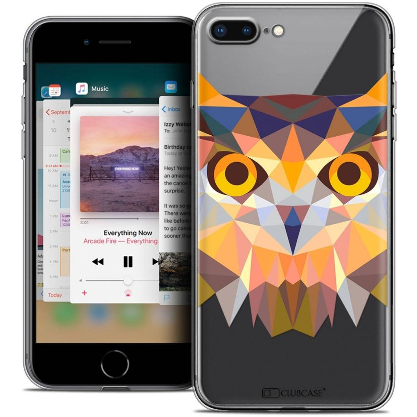 "Carcasa Crystal Gel Extra Fina Apple iPhone 7 Plus (5.5"") Polygon Animals Búho"