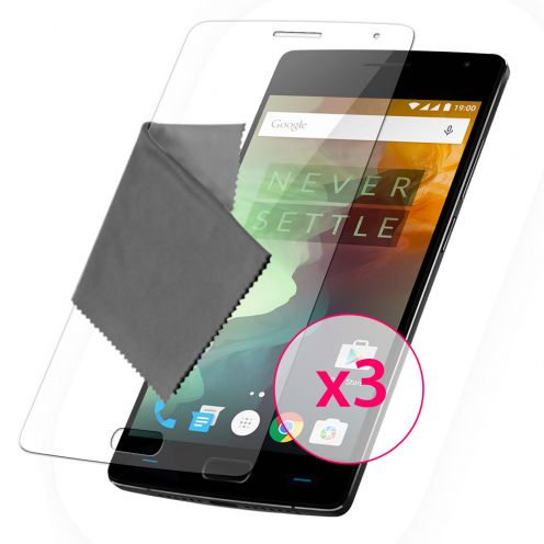 Protector De Pantalla OnePlus 2 Clubcase® 3H Ultra Clear HD Lote de 3