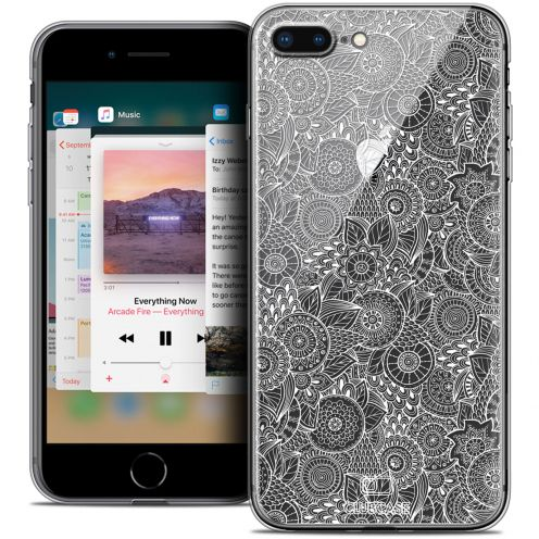 "Carcasa Crystal Gel Extra Fina Apple iPhone 7/8 Plus (5.5"") Colección Encaje de Flores - Blanco"