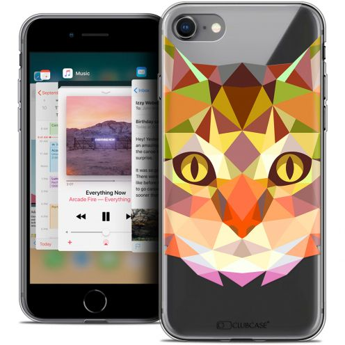 "Carcasa Crystal Gel Extra Fina Apple iPhone 8 (4.7"") Polygon Animals Gato"