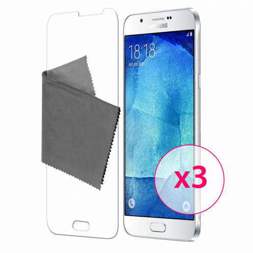 Protector De Pantalla Samsung Galaxy A8 Clubcase® 3H Ultra Clear HD Lote de 3