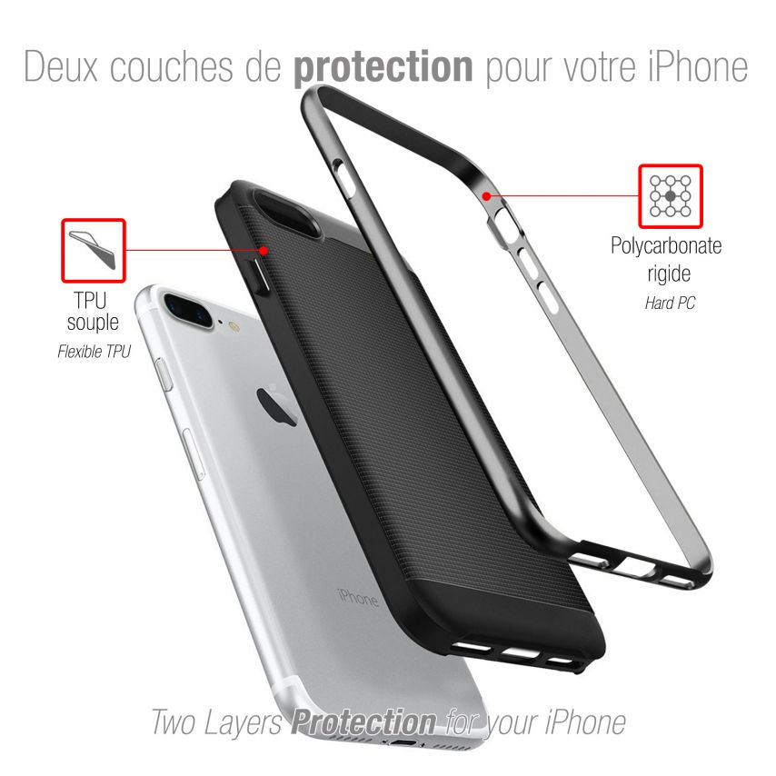 Carcasa Apple iPhone 7/8 Plus/+ (5.5) Neo Bumper Hybrid™ Series Negro Noche