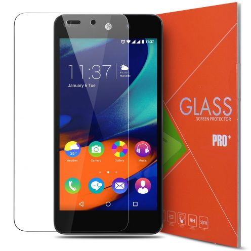 Protección de pantalla de vidrio templado Wiko Rainbow Up Glass Pro+ 9H Ultra HD 0.33mm