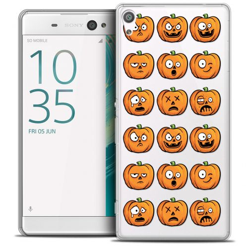 "Carcasa Crystal Extra Fina Sony Xperia XA Ultra 6"" Halloween Cartoon Citrouille"
