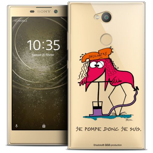 """Carcasa Crystal Gel Extra Fina Sony Xperia L2 (5.7"""") Les Shadoks® Donc Je Suis"""