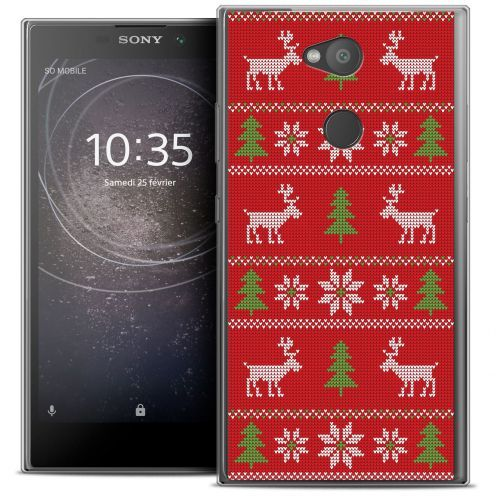 """Carcasa Crystal Gel Extra Fina Sony Xperia L2 (5.5"""") Noël 2017 Couture Rouge"""