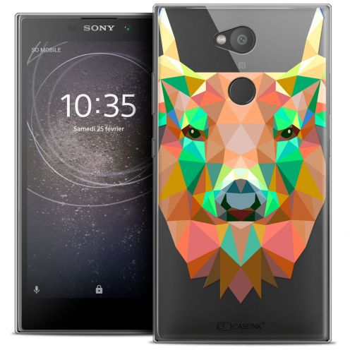 "Carcasa Crystal Gel Extra Fina Sony Xperia L2 (5.5"") Polygon Animals Ciervo"