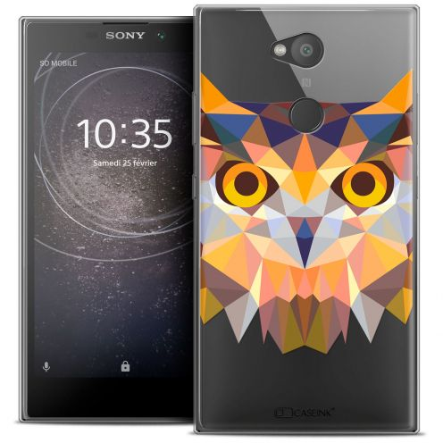 "Carcasa Crystal Gel Extra Fina Sony Xperia L2 (5.5"") Polygon Animals Búho"